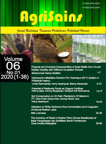 View Vol. 6 No. 01 (2020): Vol. 6 No. 01 (2020): Agrisains June 2020