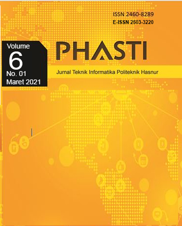 View Vol. 6 No. 01 (2021): PHASTI 2021